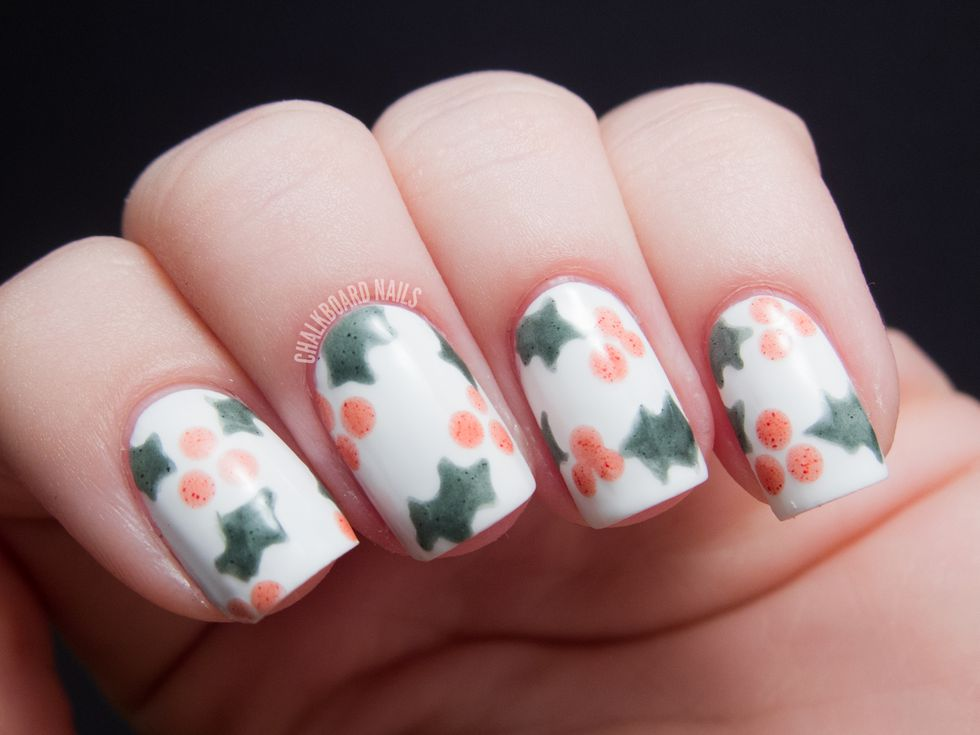 Berries and Holly Berries Nail Art