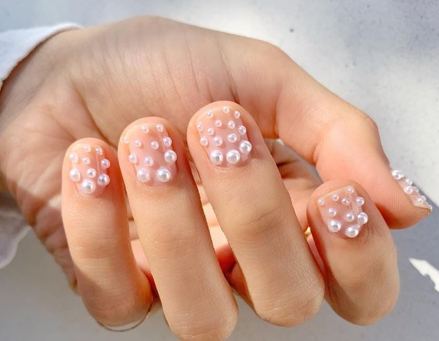 Mother of Pearls, Christmas Nails, Christmas Nail Designs