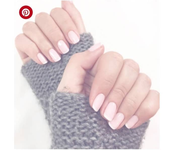 Subtle Nail Polish with Pale Pink