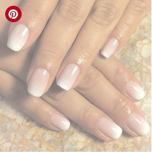 Subtle Pink Ombre French Nails