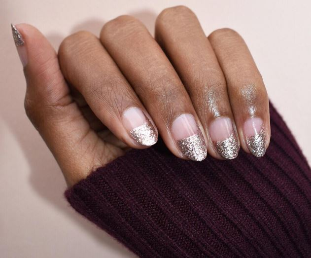 Wrapped in Silver, Christmas Nails, Christmas Nail Designs