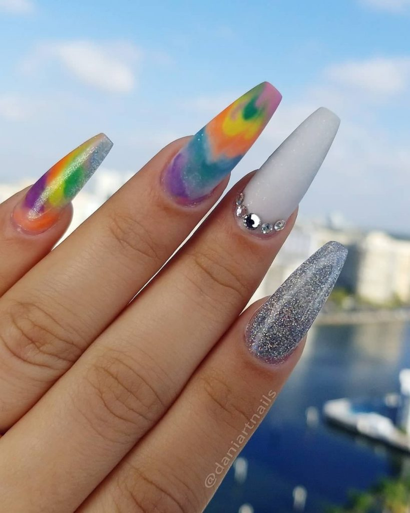 Colors to Brighten coffin nails shape