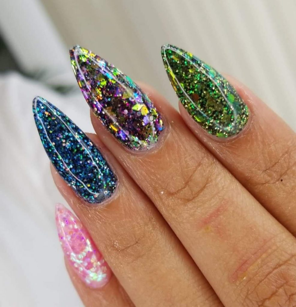 Carnival Style Nails Pointy shape