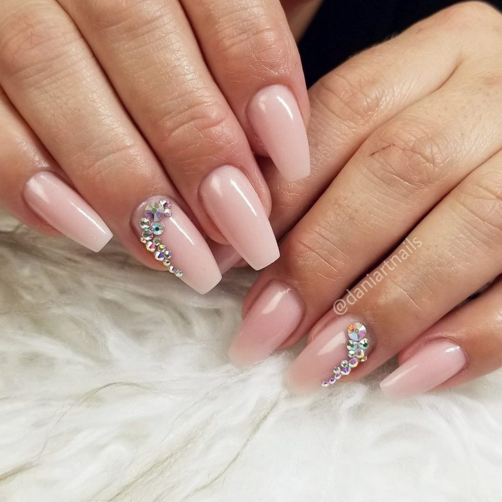 Girly Nude nails