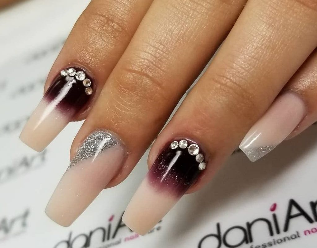 Crystal Studs nails