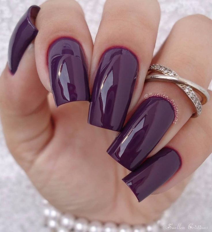 Luxury Purple Gel Manicure