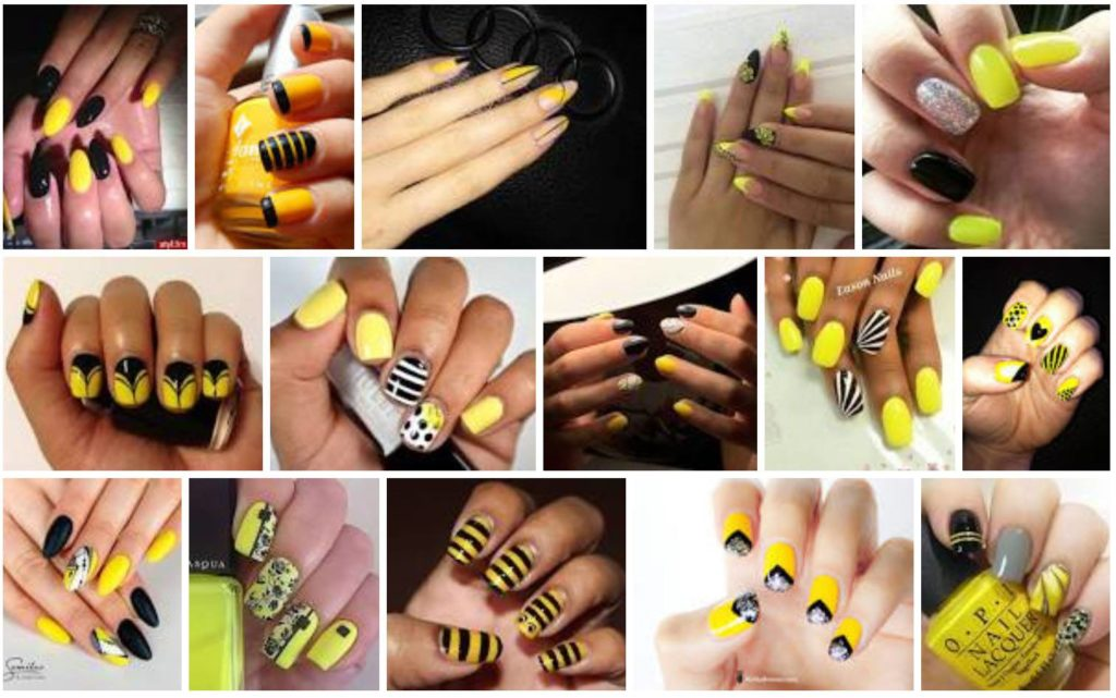 Black and Yellow Nails gallery