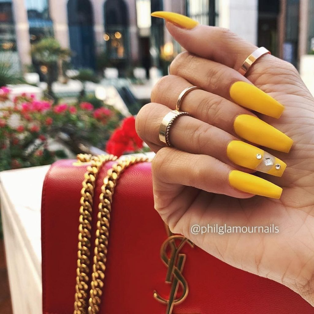 Yellow Acrylic Glam