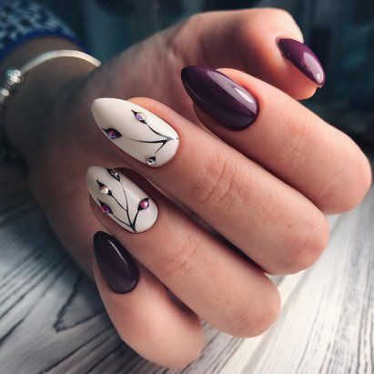 Purple Gel Nail Art design