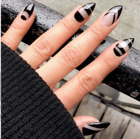 Black nail design ideas 2019