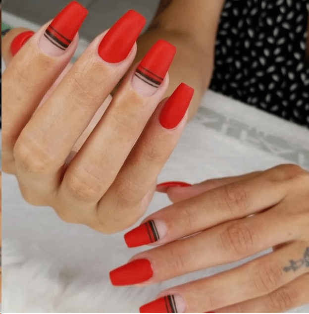 Red, nails, art 2019