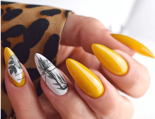 Nature-yellow Nails