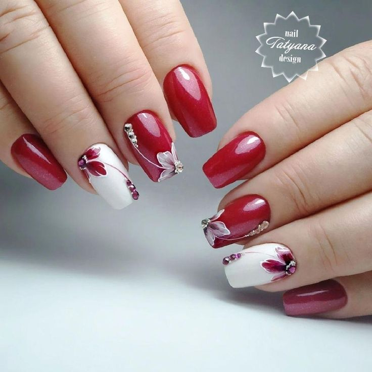 Red Gel Nail Polish Designs