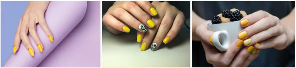 yellow bright nails