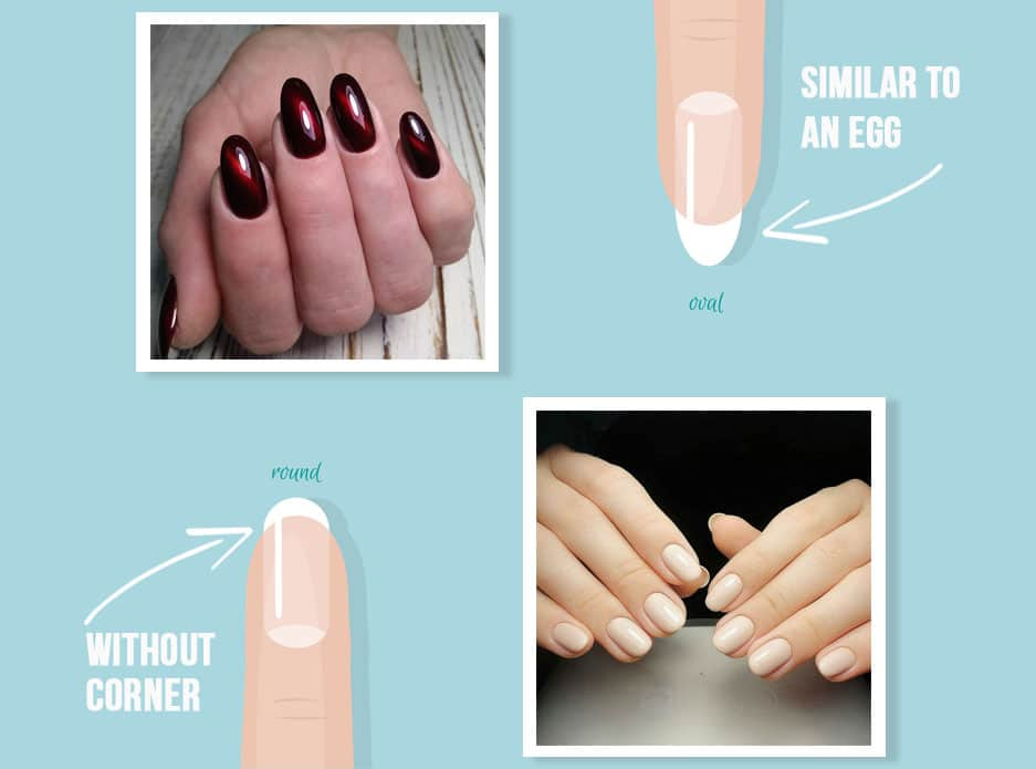 Acrylic Nails Infografic Round Vs Oval Nails