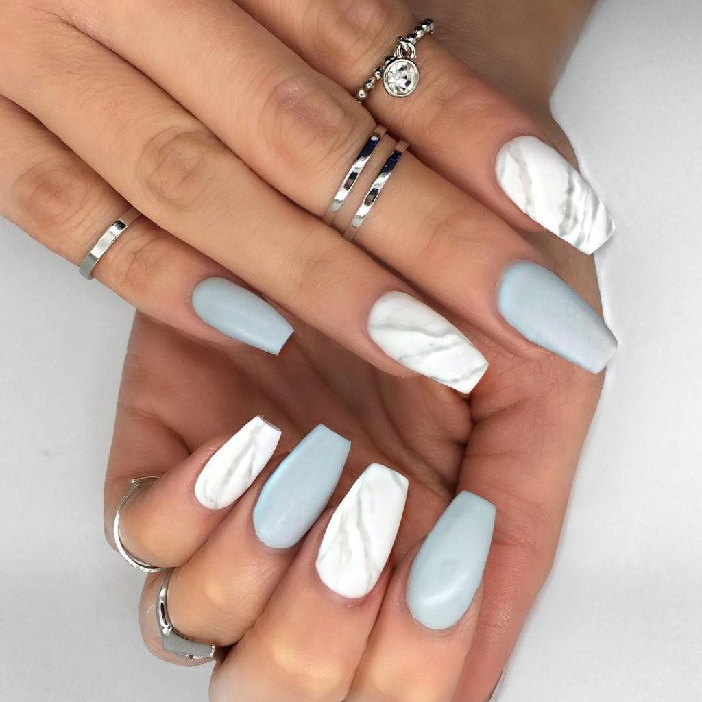 marble nails designs 2019