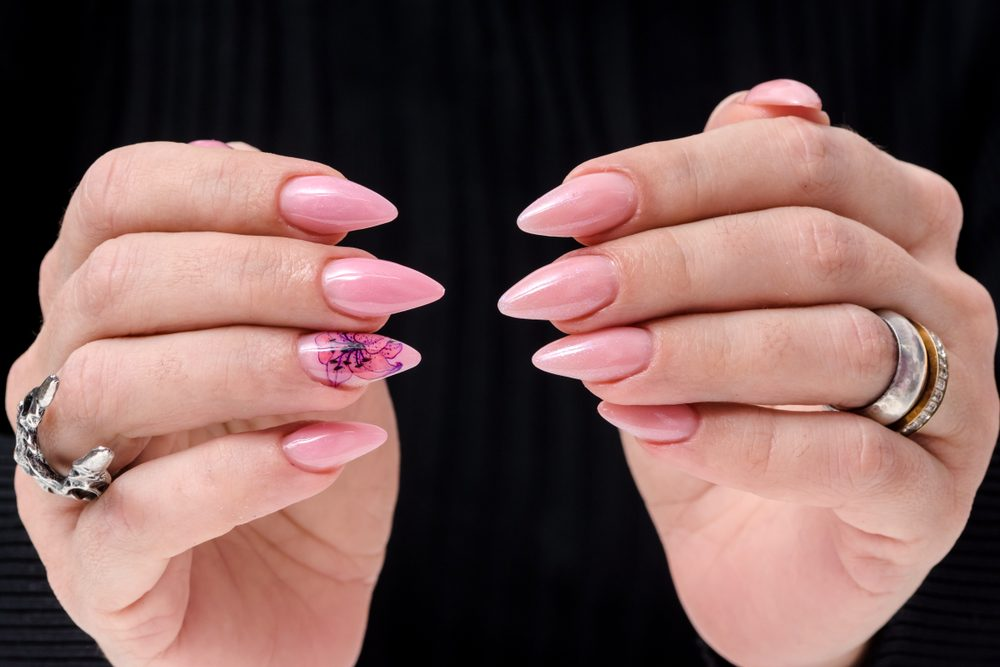 Short Stiletto Acrylic Nails