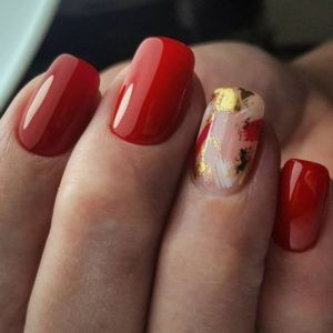 red gel nail pictures
