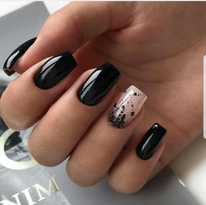black gel nail polish