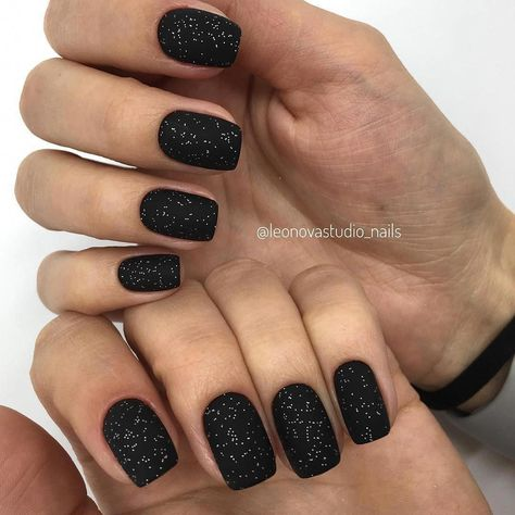 black gel nail color