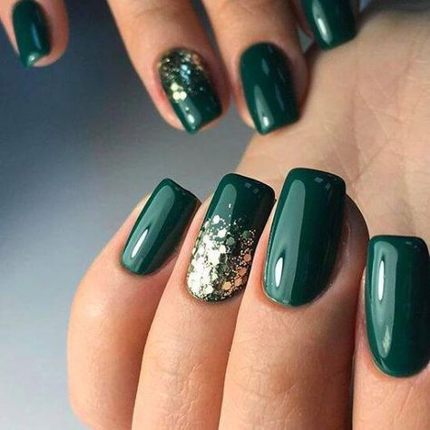green gel nail polish