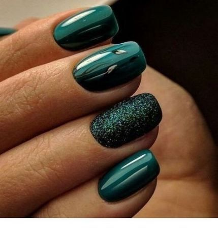 green gel polish