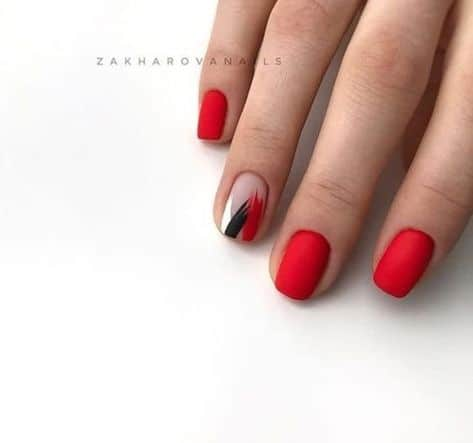 red gel nail color