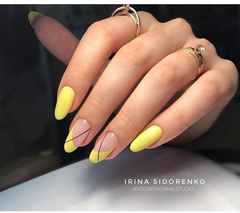 yellow gel nail polish